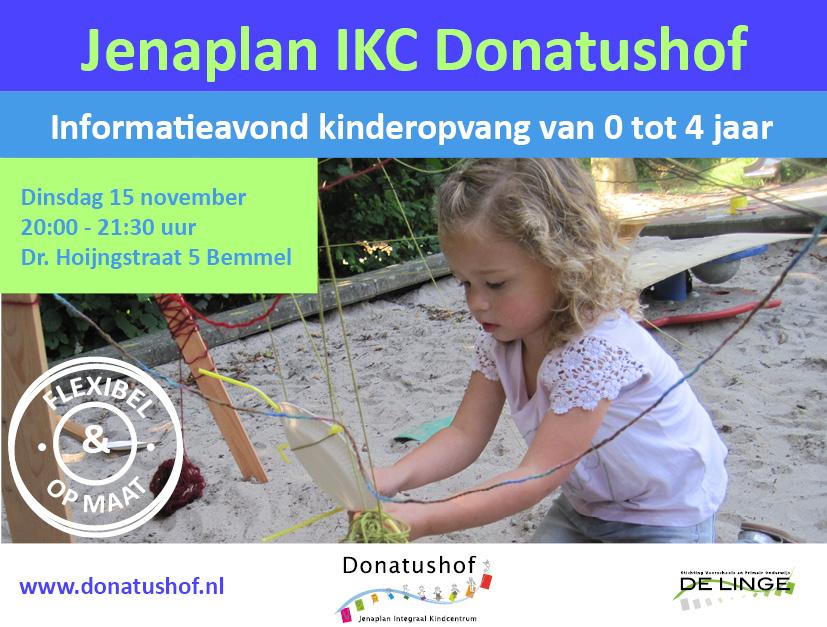 Informatieavond Jenaplan IKC Donatushof 15 november 2016