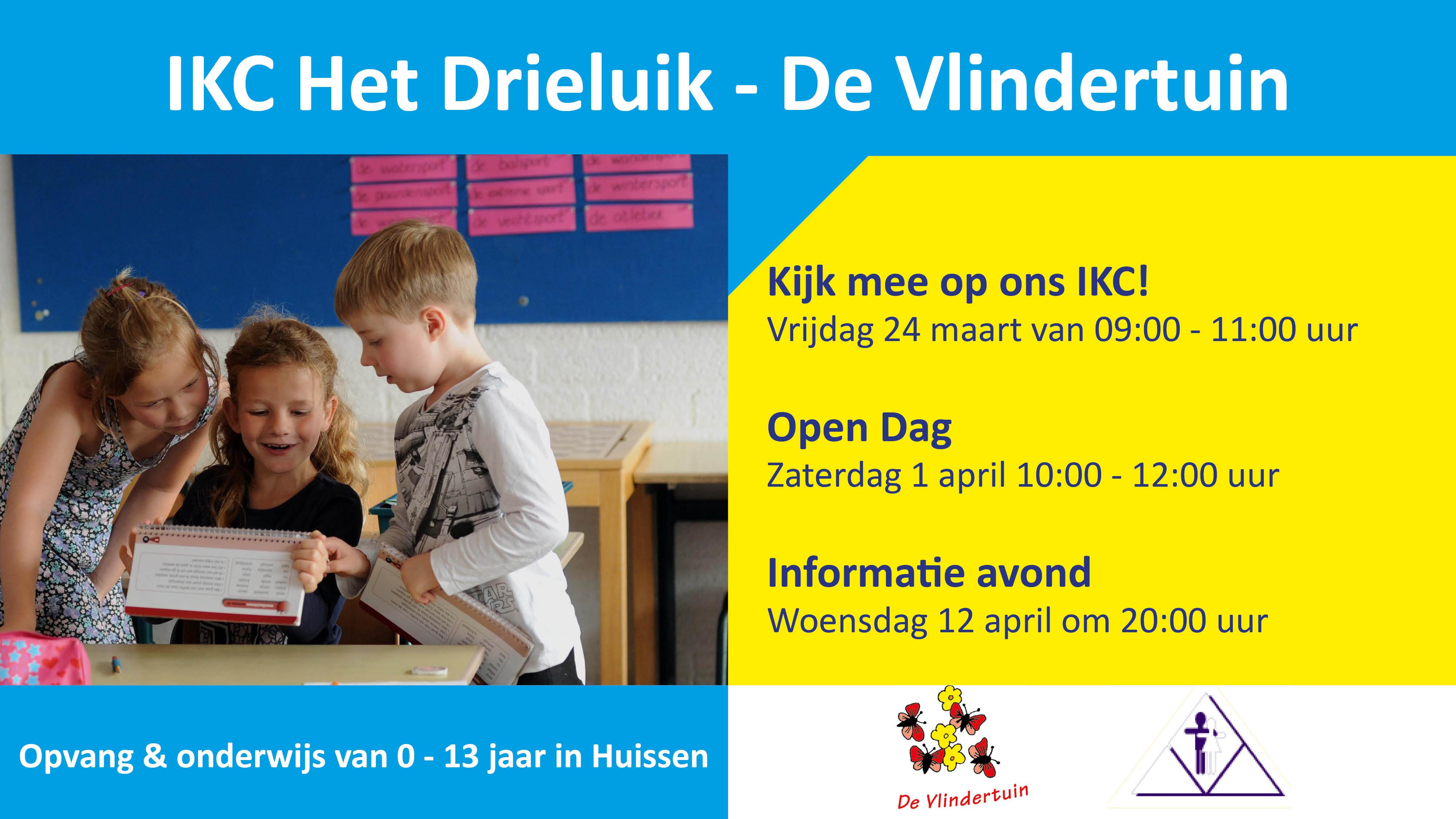 Kom kijken bij IKC Het Drieluik – De Vlindertuin in Huissen!